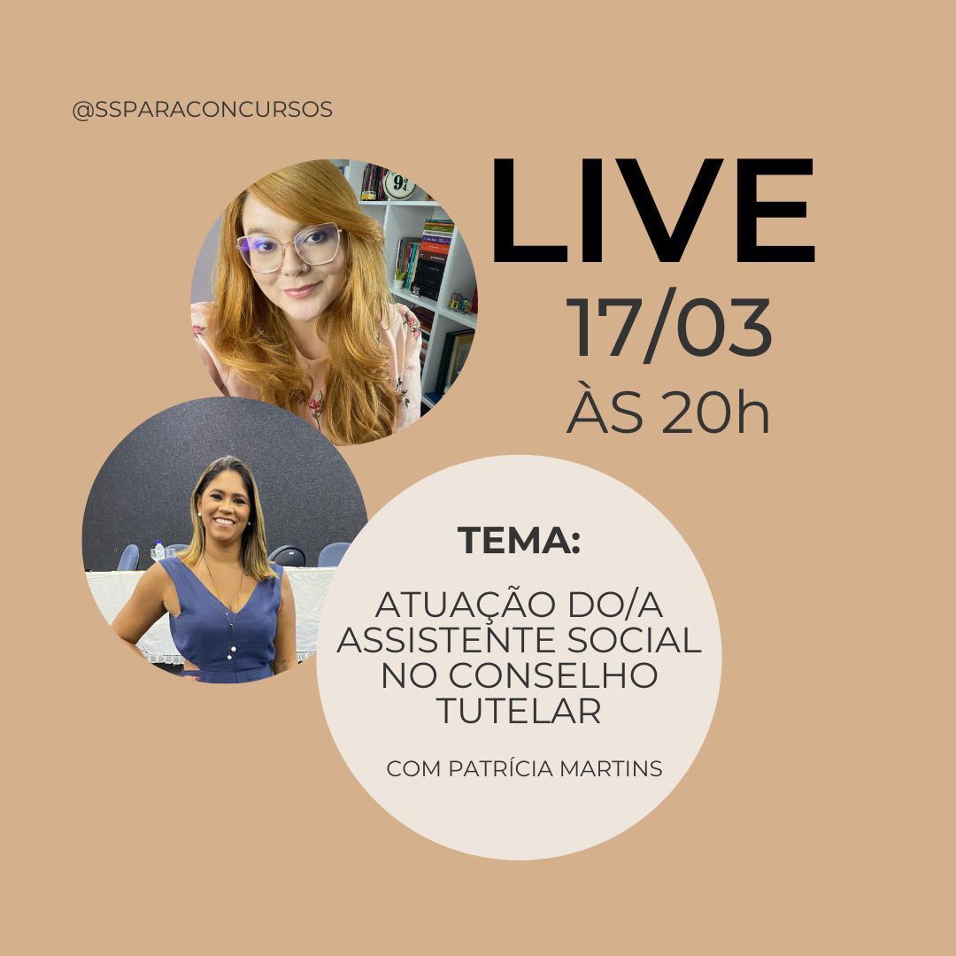 Atuação do assistente social no conselho tutelar é tema de live com Shellen Galdino e Patrícia Martins