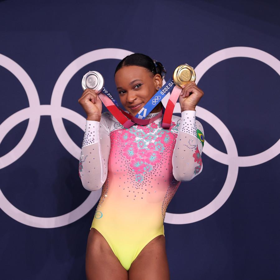 Rebeca Andrade encerra sua participação nos Jogos de Tóquio como a maior ginasta brasileira de todos os tempos em Olimpíadas